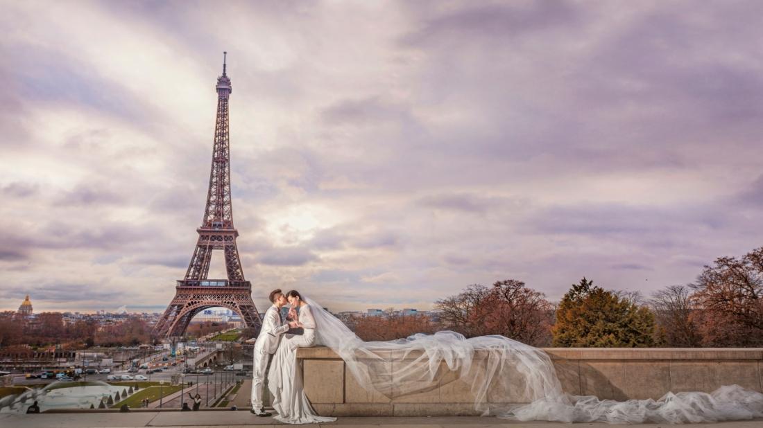 海外婚纱摄影-巴黎婚纱照